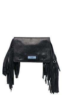 Черная кожаная сумка Etiquette Prada