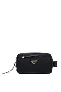 Черная поясная сумка из нейлона Prada