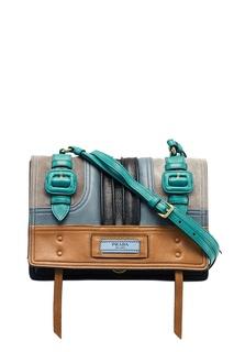Комбинированная сумка из кожи Etiquette Prada