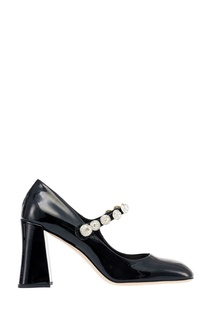 Лакированные туфли с кристаллами Miu Miu