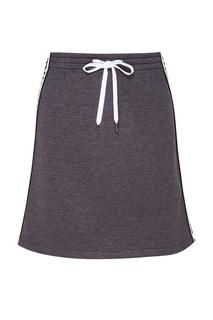Трикотажная юбка с цветной вставкой Miu Miu