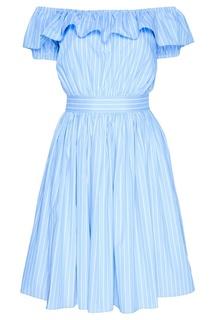 Асимметричное платье в полоску Miu Miu