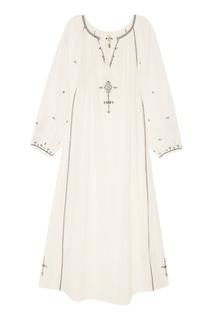 Белое хлопковое платье-макси Isabel Marant Etoile
