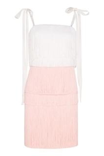 """Платье с бахромой """"Розовый крокус"""" Esve"""