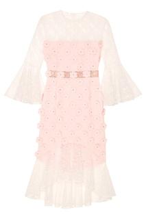 """Кружевное розовое платье """"Тюльпан"""" Esve"""