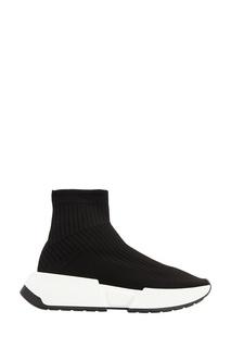Черные кроссовки из джерси Mm6 Maison Margiela