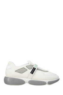 Белые кроссовки из текстиля Cloudbust Prada