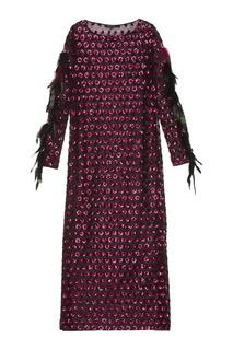Платье с пайетками и перьями Esve