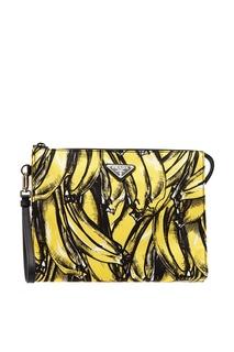 Косметичка с принтом бананов Prada