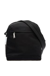 Черный рюкзак с контрастной деталью Prada