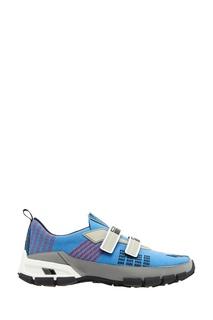 Текстильные кроссовки на липучках Prada