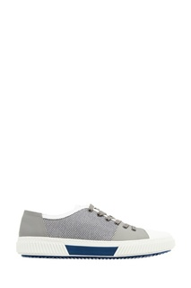 Контрастные кеды на шнуровке Prada
