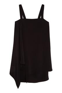 Черное шелковое платье Chapurin