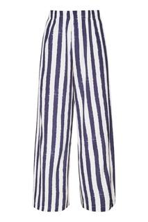 Шелковые брюки в полоску Morena Lungo Amina Rubinacci