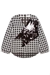 Хлопковая блузка с пайетками Chapurin