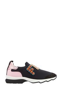 Кроссовки с разноцветным логотипом Fendi