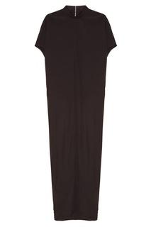 Длинное черное платье Rick Owens