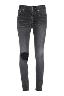 Серые джинсы с разрывом Balenciaga