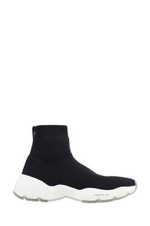 Черные кроссовки из джерси O.X.S.