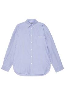 Хлопковая рубашка в полоску Balenciaga