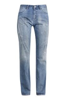 Синие джинсы с состаренным эффектом Mm6 Maison Margiela