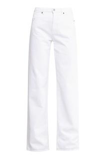 Широкие белые джинсы Mm6 Maison Margiela