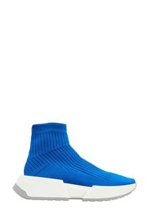 Синие кроссовки из джерси Mm6 Maison Margiela