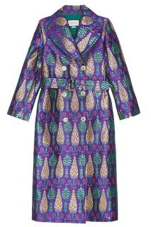 Пальто с люрексом Gucci