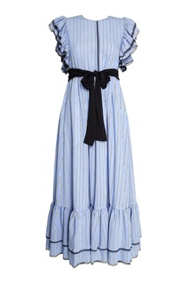 Длинное платье с воланами Msgm