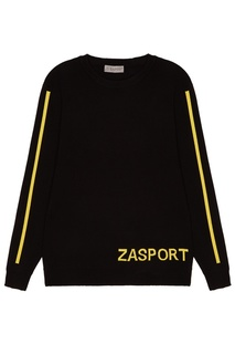 Джемпер с желтым логотипом Zasport