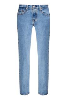Прямые голубые джинсы 501® TAPER Levis®