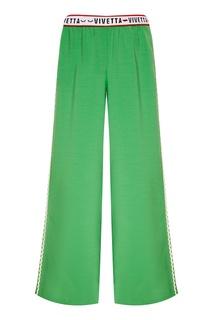 Широкие зеленые брюки Vivetta