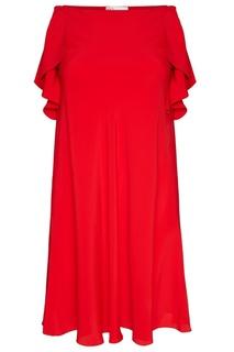 Платье с оборками по бокам RED Valentino