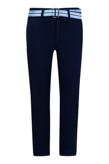 Синие брюки с контрастным поясом Ralph Lauren Children