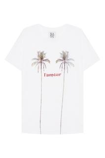 Белая футболка с пальмами Zoe Karssen