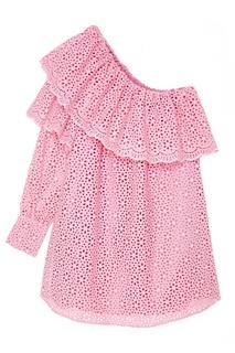 Розовое платье из вышитого хлопка Msgm