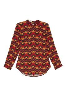 Блузка с геометрическим принтом Laroom