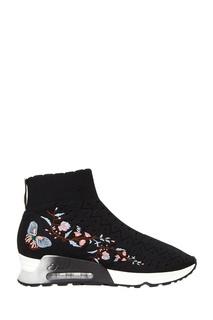 Текстильные кроссовки с вышивкой Ash