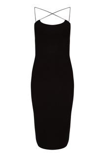 Черное платье на бретелях T by Alexander Wang