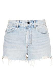 Голубые джинсовые шорты Alexander Wang