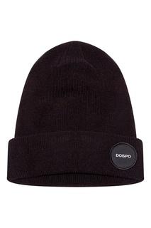 Черная шапка с нашивкой Zasport