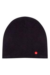 Черная шапка с вышитой точкой Zasport