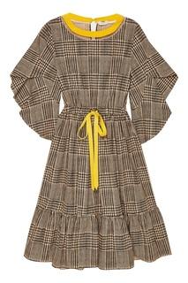 Платье из хлопка в клетку Fendi