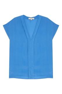 Голубая блузка с V-вырезом Akhmadullina Dreams