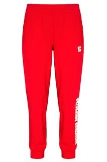 Красные хлопковые брюки с вышивкой Terekhov Girl