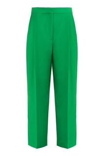 Широкие зеленые брюки Tara Jarmon