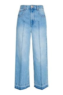 Широкие джинсы с выбеливанием Isabel Marant Etoile