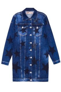Джинсовая куртка со звездами Mila Marsel