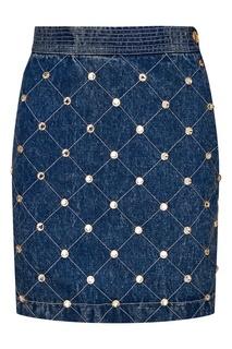 Джинсовая юбка с кристаллами Gucci