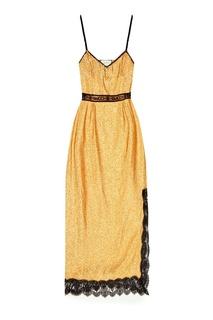 Золотистое платье с люрексом Gucci